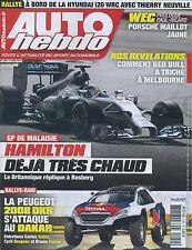 AUTO HEBDO n°1954 du 2 AVRIL 2014 GP MALAISEIE WEC PAUL RICARD