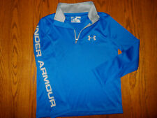 UNDER ARMOUR HEAT GEAR 1/4 ZIP LONG SLEEVE LOOSE FIT SHIRT BOYS SMALL EXCELLENT