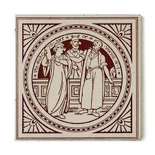 Antique Victorian Tile Mintons Shakespeare Merchant Venice Moyr Smith Brown Buff