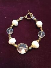 Beaded Faux Crystal/pearl (Ns) 8� Bracelet Costume Jewelry