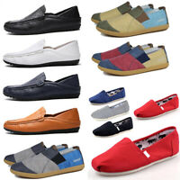 Autumn Men's Lazy Leather Shoes Driving Moccasin Loafer Casual Slip On Shoes