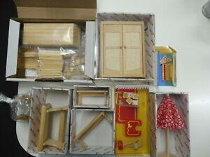 Mini Mundus Puppenhaus Elemente , Möbel, Bauteile Konvolut***Neu***
