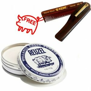 Reuzel Clay Matte Pomade Pig Water Solube Strong Hold Matte Fin 113g + Gift