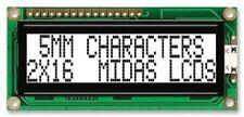 MC21605G6W-FPTLW - Alphanumeric LCD, 16 x 2, Black on White, 5V (R6S2B1)
