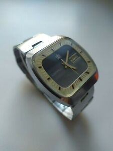 POLJOT Quartz Resonator Original Soviet Men's Watch Electro-mechanical