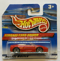 1999 Hotwheels Ferrari F355 355 Spider Series Red European Short Card Release