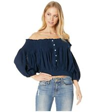 A28 Free People Dancing Till Dawn Off The Shoulder Crop Top, Size Small