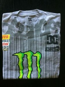 MAGLIA DC SHOES MONSTER KEN BLOCK 43 FORD RACING T-SHIRT JERSEY MENS SIZE M