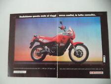 advertising Pubblicità 1989 MOTO KAWASAKI KLR 650 TENGAI