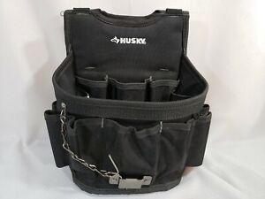 Husky 13-Pocket Large Black Utility Tool Pouch No Shoulder Strap 1003186566