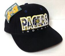 pretty nice 4c1a9 0f009  Read Size  INDIANA PACERS HAT Black Snapback Cap 90s Low-Profile RARE VTG