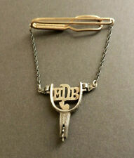 Vtg Holland San Angelo Texas Sterling Silver Spur Tie Bar Gold Plated Holland's