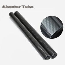 Abester 2pcs OD 8mm Carbon Fiber Tube OD8mm x ID7mm ID x 1000mm 3K Glossy Plain Roll Wrapped Rod Bearing Pole H