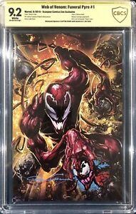 Clayton Crain ORIGINAL Sketch Art CBCS Spider-Man Signed Carnage Venom CGC