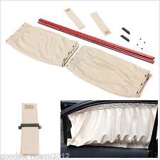 A Pair Beige 70X40cm Car Off-Road Windscreen Adjustable Sunshade Curtain Anti-UV
