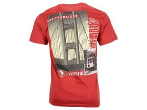 San Francisco 49ers Back Duo City III Tee Shirt By Majestic - Scarlet Red