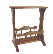 Amish Furniture - Oak Accent Table with Storage / Magazine Rack - Made in USA