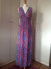 Maxi Dress By M&Co, Pink/Lavender, Extra Long, Size 10, Evening/Holiday