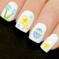 Easter Cute Watercolour Eggs Chicks Nails Art 3D Decal Wraps Stickers V20