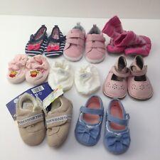 Girls Baby Bootees & Pram Shoes Bundle 8 Pairs 0-12 Mths