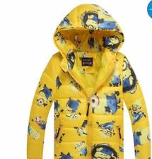 Minion Jacket Kids Down Jacket For Boy Baby Minion Clothes Winter Down Coat HOT