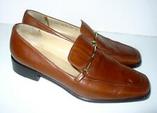 Auth Gucci Women's Brown Leather Horsebit Accent Shoes/Oxfords - Sz 36 C - Italy