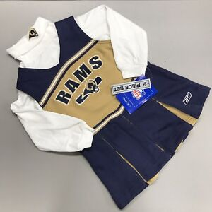 Los Angeles Rams Baby Girls Cheerleading Dress 3T Toddler Turtleneck NFL Reebok