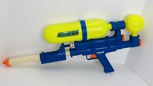 Vintage 1990 Toy Larami Blue Yellow Super Soaker 100 Original Tested & Working