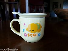 RARE Early Vintage PIPI DUCK TEA CUP WITH LID COFFEE MUG CUTE
