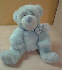 "Baby Ganz Potts the Blue Teddy Bear stuffed animal toy 10"" boys girls"