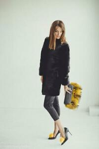 Real Fur Clutch Bag Evening Purse Gift Woman Bags Handbags Clothing (Yellow)