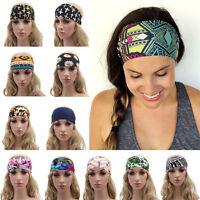 Yoga Headwrap Lady Headband Floral Wide Bandana Elastic Running Hair Band H&LJ