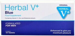 #1x10 Herbal V Blau Tablets For Men- Performance, Energy, Stamina and Endurance