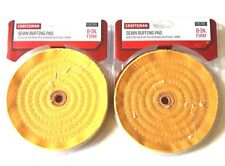 "2 CRAFTSMAN 8"" SEWN BUFFING WHEEL PAD FIRM 5/8 ARBOR BENCH GRINDER POLISH 935785"