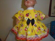 "Fits 12"" Corolle Mon Premier Bebe doll clothes LADY BUG dress diaper 2 pc set"