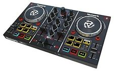Numark Party Mix Starter DJ Controller With Built-in Sound Card Light Show an