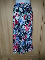 Marks And Spencer Womens Multicolour Canvas Belted Midi/Maxi Flare Skirt Size 14