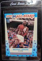 1989 FLEER STICKER #3 MICHAEL JORDAN CHICAGO BULLS HOF MINT