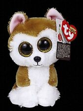 """Ty Beanie Boos 6"""" Loy the Akita Dog Animal Plush Puppy with MWMTs Ty Heart Tag"""