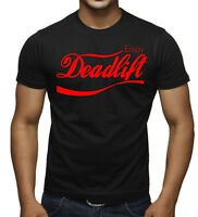 New Men's Enjoy Deadlift Black T Shirt Workout Beast Muscle Gym Lift Graphic Tee