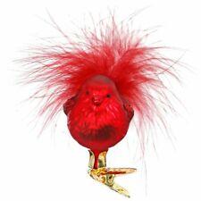 Weihnachtsvogel Glasvogel 6cm rot INGE-GLAS Weihnachtsschmuck