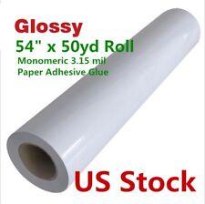 "US Stock 54"" x 50 yard Glossy Monomeric 3.15 mil Cold Laminating Film"