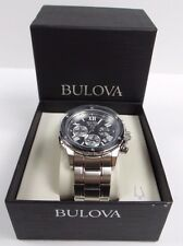 MEN'S BULOVA MARINE STAR STAINLESS STEEL CHRONOGRAPH WATCH 98B281