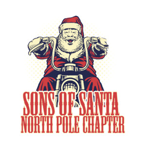Sons of Santa Anarchy Parody Funny Father Christmas Womens T-Shirt