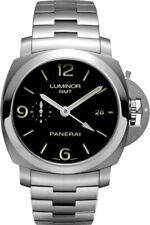 Panerai Luminor GMT Black Dial 44mm Steel Men's Watch PAM00329