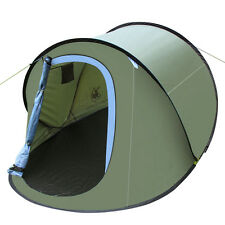 Outdoor Camping Hiking Easy Setup Family Pop Up Instant Tent Large Shelter Green