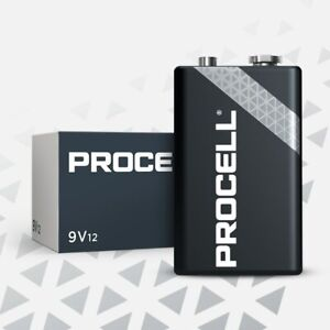 CASE 36 NEW DURACELL PROCELL 9V 9 VOLT Alkaline Batteries !! Exp 2025 or later