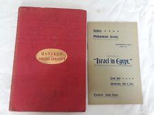 Handel's Oratorio  ~Israel in Egypt 1857 Edition~ 1900 Sydney Town Hall Program