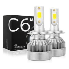 2x H7 LED Headlight Bulb Kit High Low Beam Fog Lamp 6000K White HID 55W 8000LM