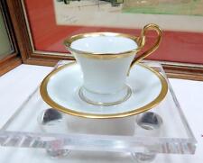 "ANTIQUE THOMAS BAVARIA #74274 WHITE & GOLD FLARED RIM 2"" DEMITASSE CUP & SAUCER"